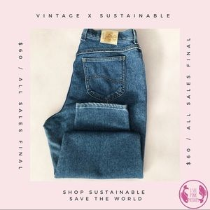 Retro High Waisted Lee Jeans ✨